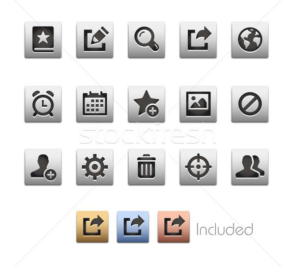 Interfejs ikona wektora pliku kolor ikona Zdjęcia stock © Palsur