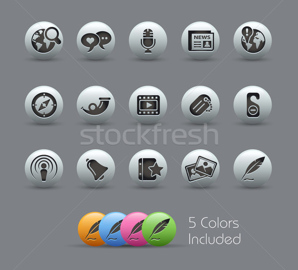 Social Media // Pearly Series Stock photo © Palsur