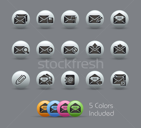 E-mail Icons // Pearly Serie Stock photo © Palsur