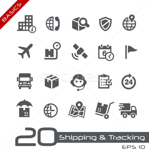 Shipping and Tracking Icons -- Basics Stock photo © Palsur