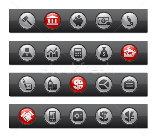 Business & Finance // Button Bar Series Stock photo © Palsur