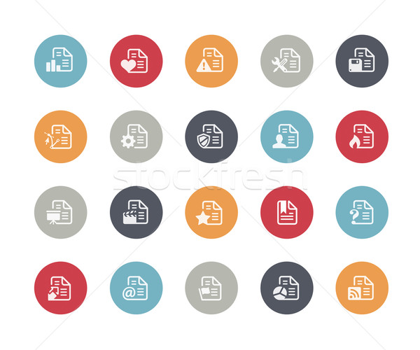 Documents Icons Set 2 of 2 // Classics Series Stock photo © Palsur