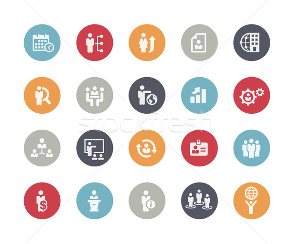 Icons Set of Human Resources and Business Management // Classics Series Stock photo © Palsur