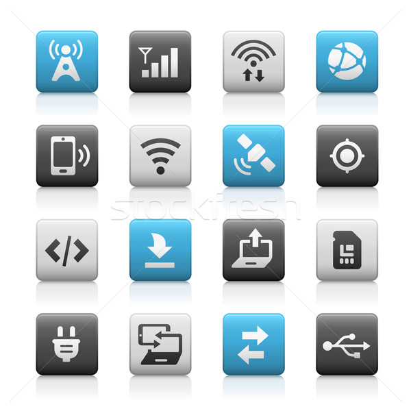 Web and Mobile Icons 6 // Matte Series Stock photo © Palsur
