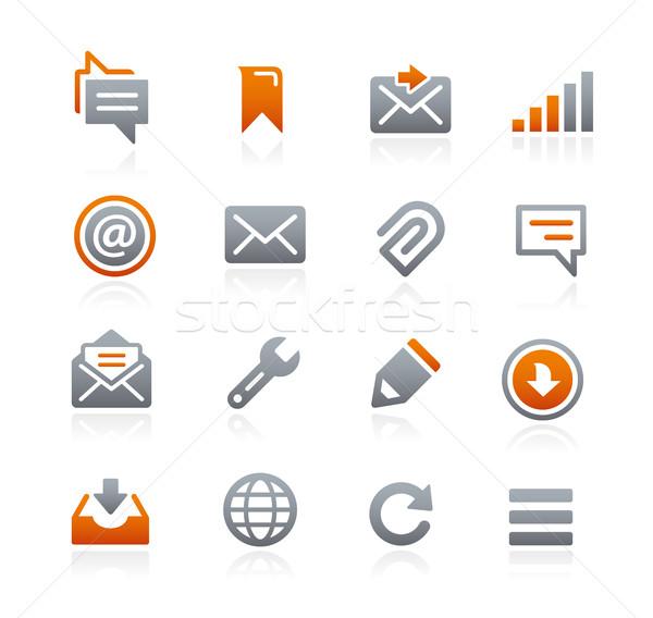 Foto stock: Web · móviles · iconos · grafito · vector · digital