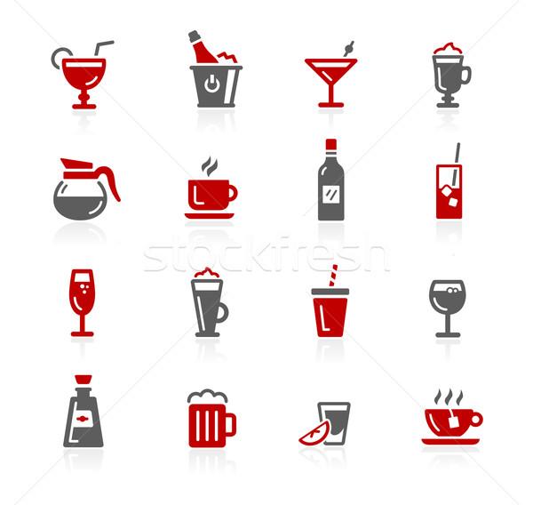 Сток-фото: напитки · иконки · вектора · цифровой · печать