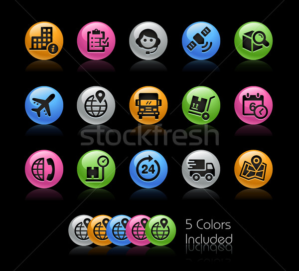 Shipping and Tracking Icons - Gelcolor Series Stock photo © Palsur