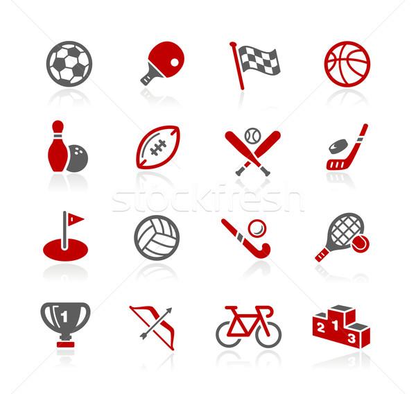 Stock fotó: Sportok · ikonok · vektor · háló · nyomtatás · projektek