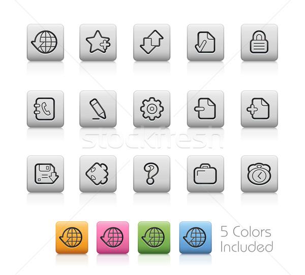 Web simgeleri düğme renk katman görmek Stok fotoğraf © Palsur