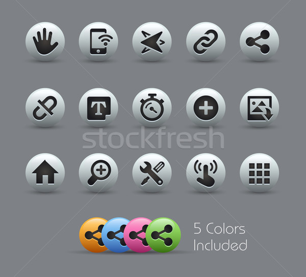 System Icons Interface -- Pearly Series Stock photo © Palsur