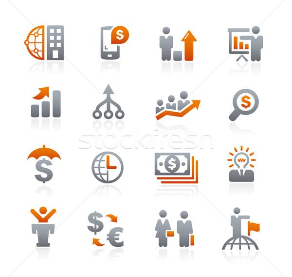Negocios financieros grafito vector iconos digital Foto stock © Palsur