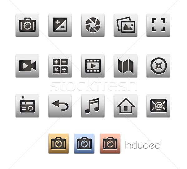 Interfész ikonok vektor akta szín ikon Stock fotó © Palsur