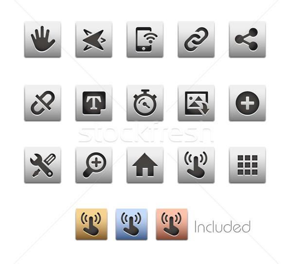 Interface Icons // Metalbox Series Stock photo © Palsur