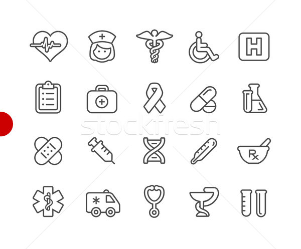 Medical Icons // Red Point Series Stock photo © Palsur