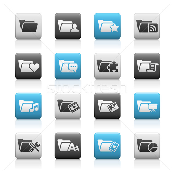 Folder Icons - 2 // Matte Series Stock photo © Palsur