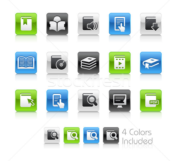 Book Icons // Clean Series Stock photo © Palsur
