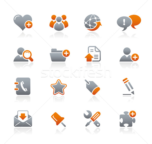 Web blog internet grafiet iconen professionele Stockfoto © Palsur