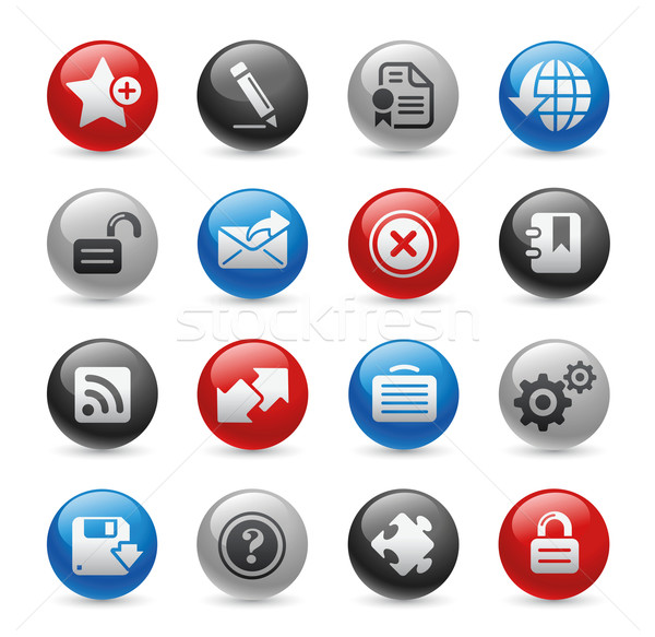 Web 2.0 Icons // Gel Pro Series Stock photo © Palsur