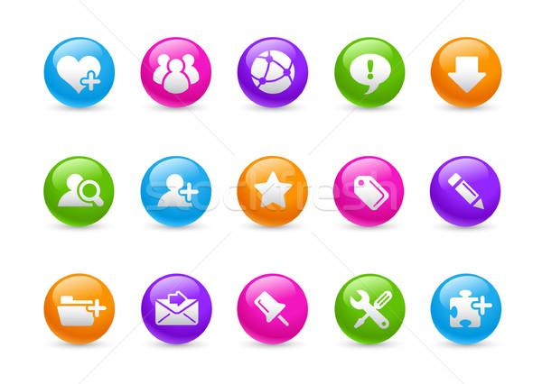 Internet blog Rainbow professionali icone sito Foto d'archivio © Palsur