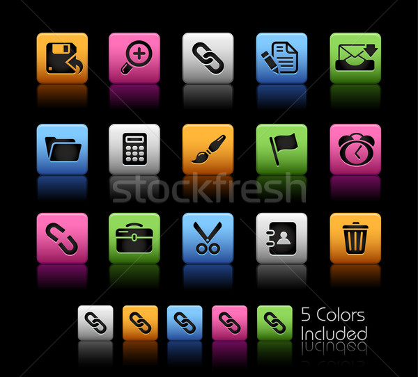 Web arayüz renk kutu eps dosya Stok fotoğraf © Palsur