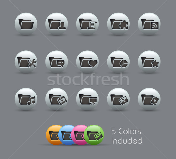 Folder Icons - 2 of 2 // Pearly Serie Stock photo © Palsur