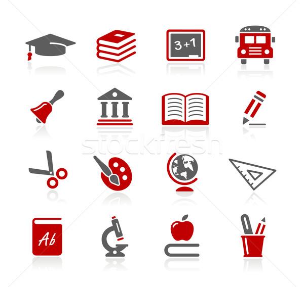 Schule Bildung Symbole Vektor Web Druck Stock foto © Palsur