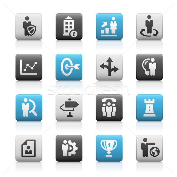 Business Strategies Icons -- Matte Series Stock photo © Palsur