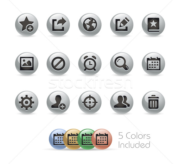 Teia móvel ícones metal vetor arquivo Foto stock © Palsur