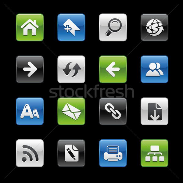 Stock fotó: Háló · navigáció · ikonok · profi · weboldal · bemutató