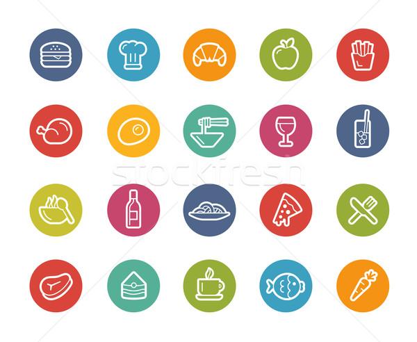 Food Icons - Set 1 of 2 // Printemps Series Stock photo © Palsur