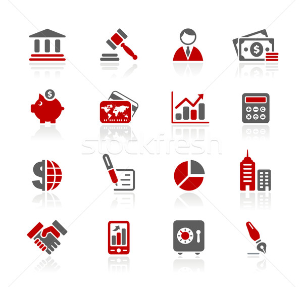 Business financieren iconen professionele website presentatie Stockfoto © Palsur