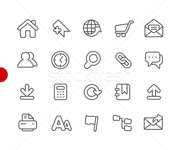 Website Icons // Red Point Series Stock photo © Palsur