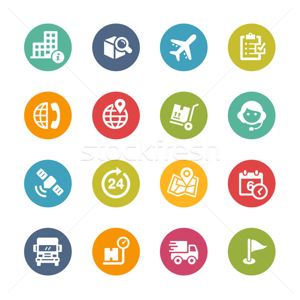 Shipping and Tracking Icons -- Fresh Colors Series Stock photo © Palsur