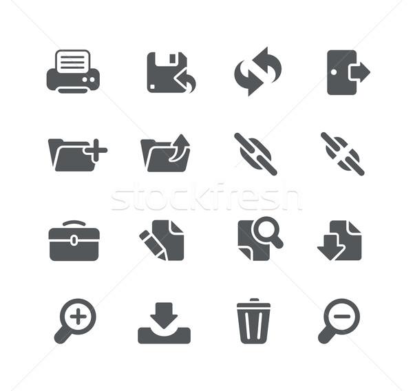 Háló szoftver fejlesztés ikonok hasznosság vektor Stock fotó © Palsur