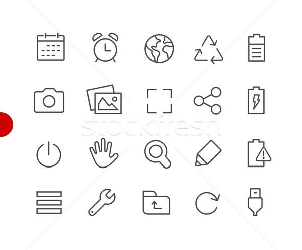 Foto stock: Web · móviles · iconos · rojo · punto · vector