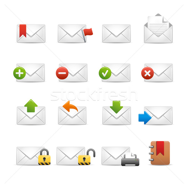 e-mail Icons - Set 2 of 3 // Soft Series Stock photo © Palsur