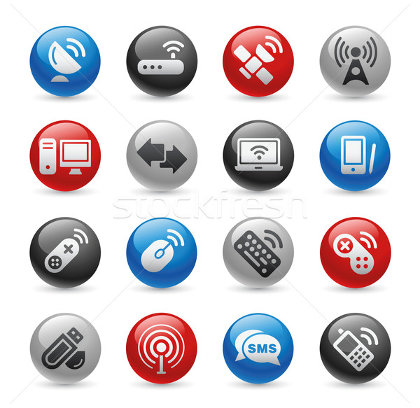 Wireless & Communications Icons // Gel Pro Series Stock photo © Palsur