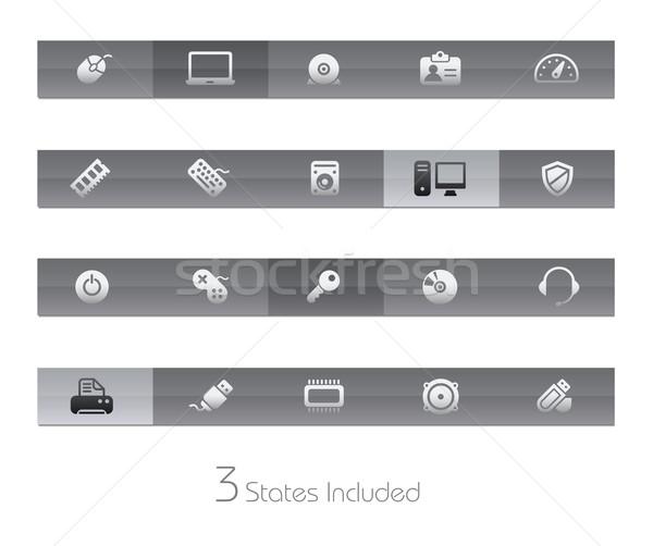 Bilgisayar vektör dosya düğmeler farklı Stok fotoğraf © Palsur