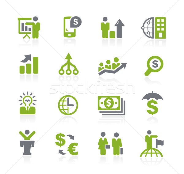 Business and Finance Icons // Natura Series Stock photo © Palsur