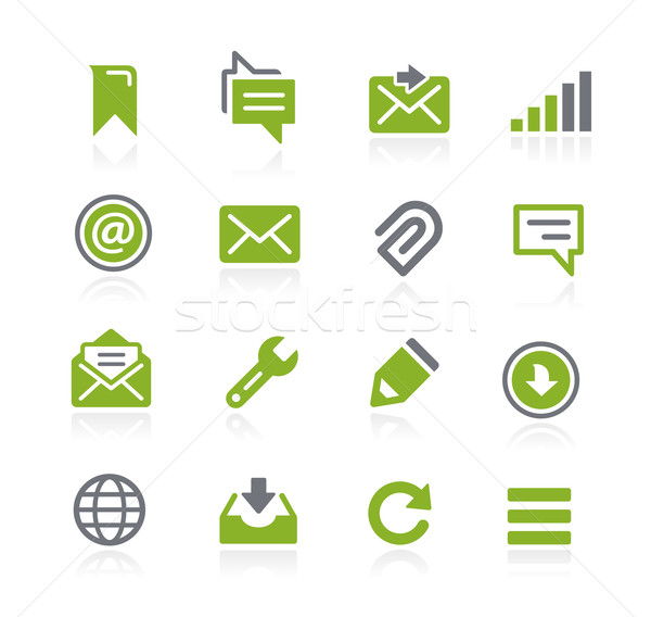 Messages Icons // Natura Series Stock photo © Palsur