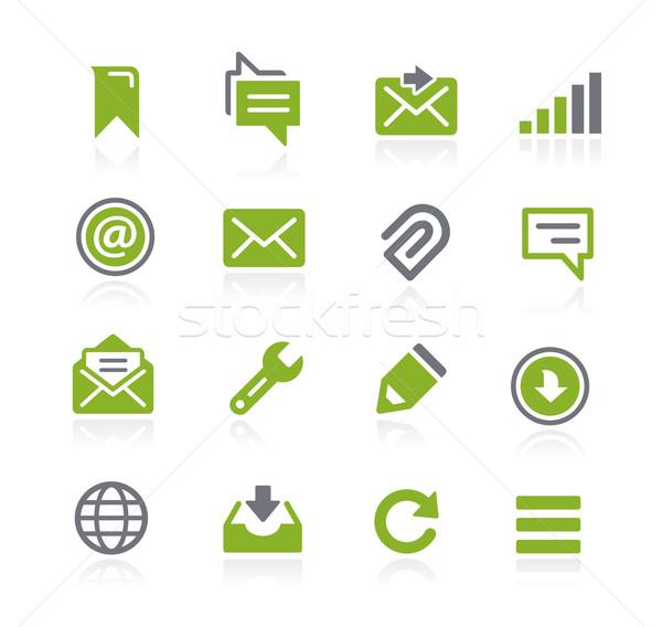 Mensajes iconos vector web móviles impresión Foto stock © Palsur