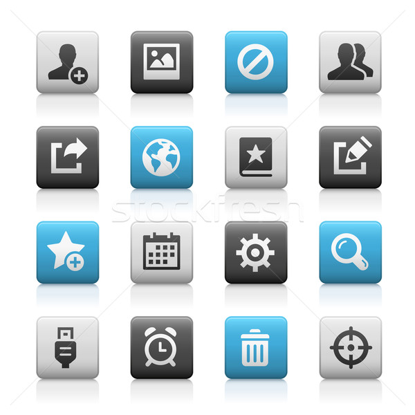 Web and Mobile Icons 2 // Matte Series Stock photo © Palsur