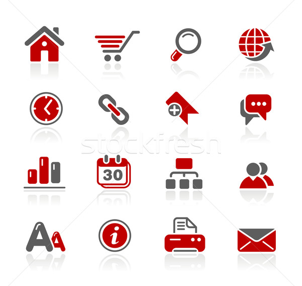 Web Site & Internet Icons// Redico Series Stock photo © Palsur