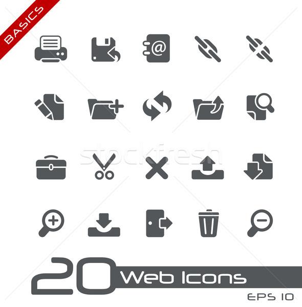 Stok fotoğraf: Web · simgeleri · temeller · vektör · simgeler · web · baskı