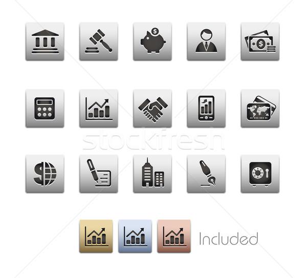 Stock fotó: üzlet · pénzügy · fémes · eps · akta · szín