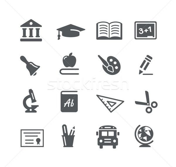 Education Icons -- Utility Series Stock photo © Palsur