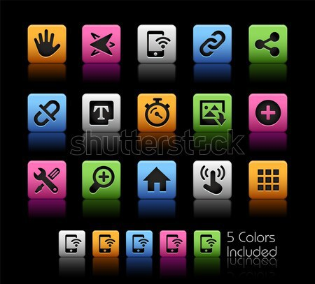 System Icons Interface - Gelcolor Series Stock photo © Palsur