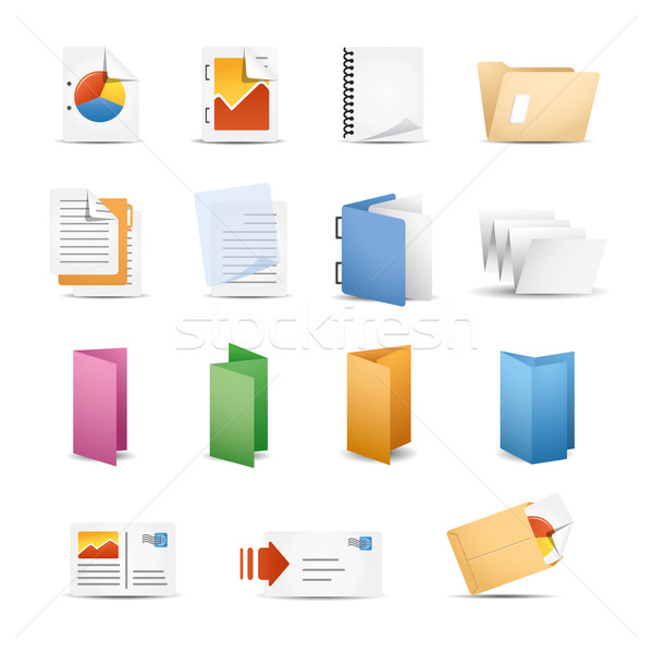 Printing Icons Stock photo © Palsur