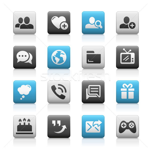 Social Communications Icons - Matte Series Stock photo © Palsur