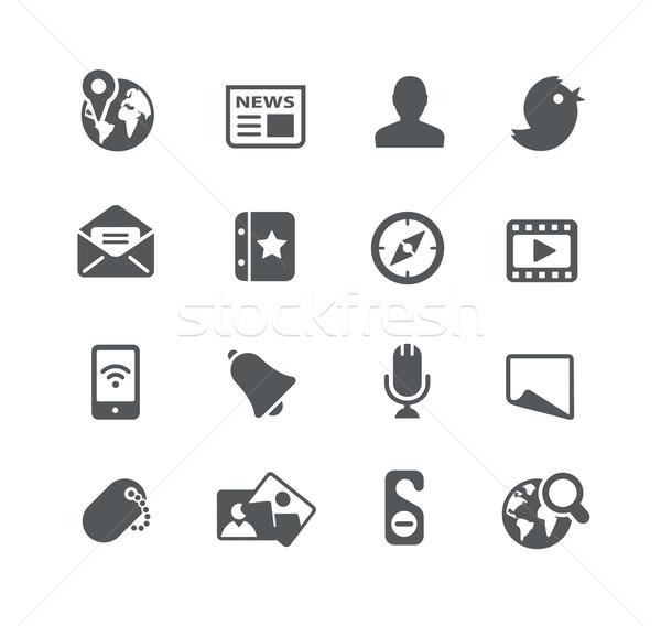 Social os ícones do web utilidade vetor ícones digital Foto stock © Palsur